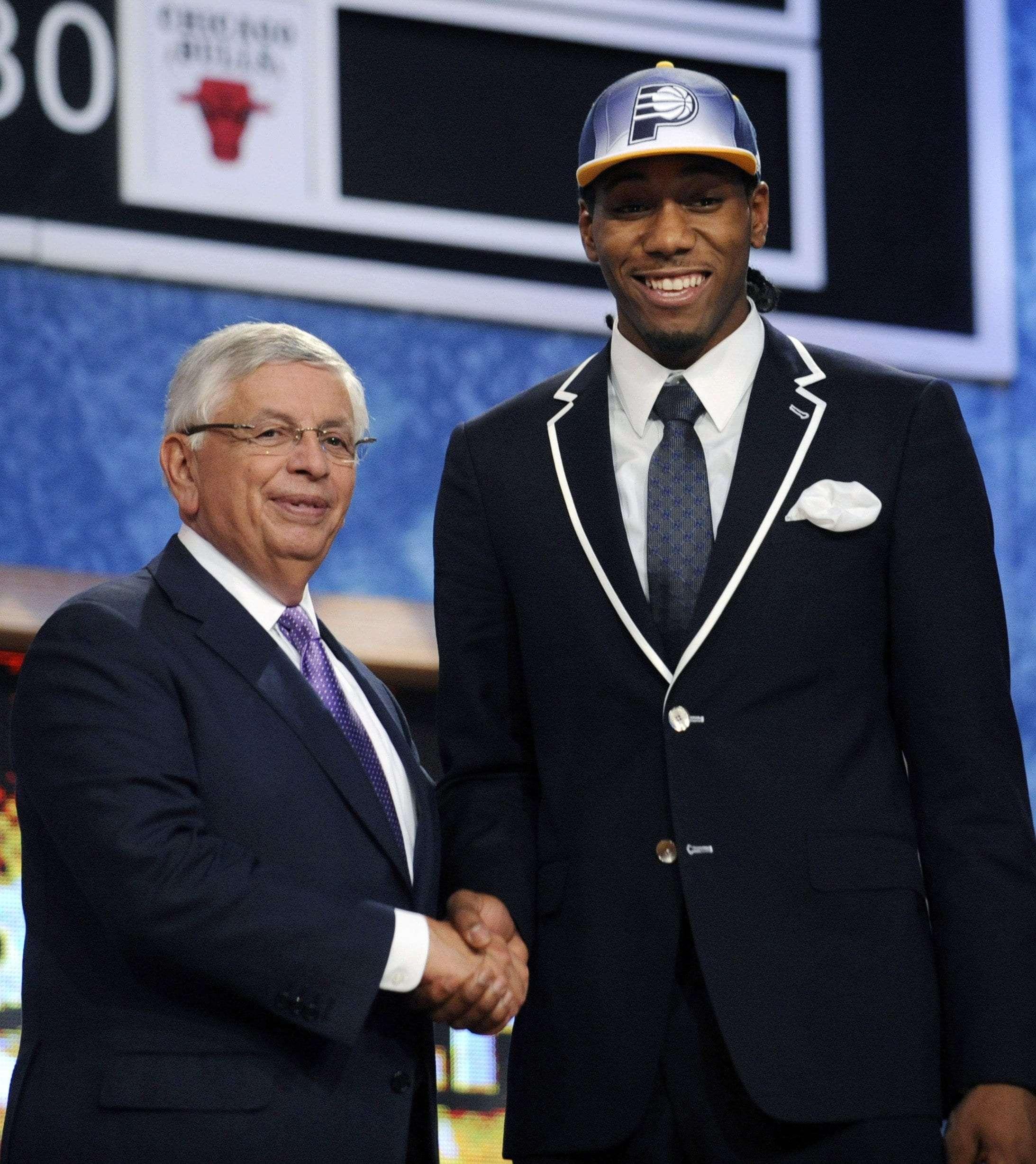 Kawhi Leonard NBA Draft night with commissioner David Stern