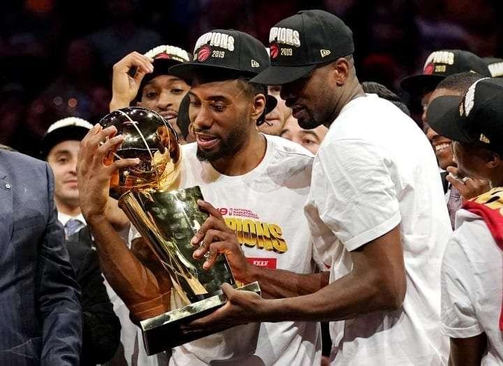 Kawhi Leonard after winning 2019 NBA championship with Toronto Raptors