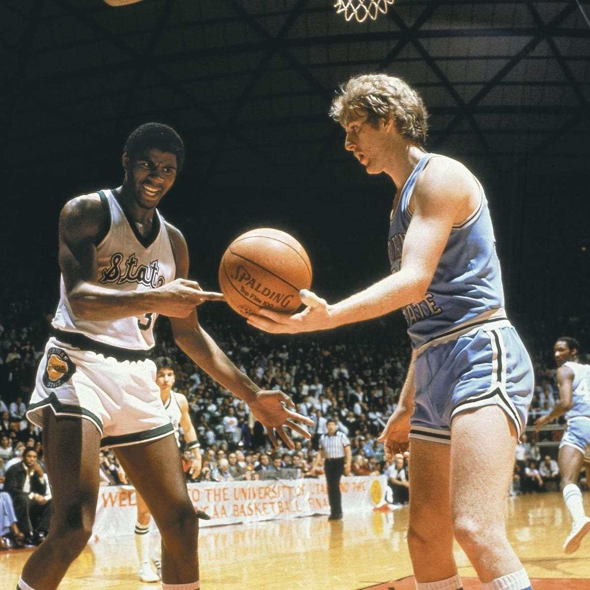 Magic Johnson & Larry Bird in college