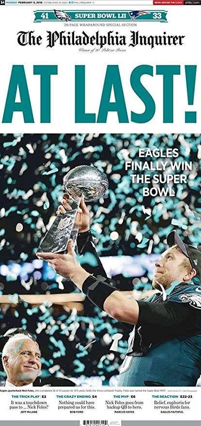 Eagles win SuperBowl