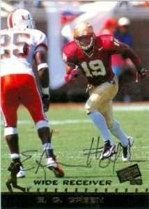 Florida State wide receiver E.G Green