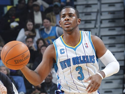 Chris Paul first started putting up his career and playoff stats for the Hornets.