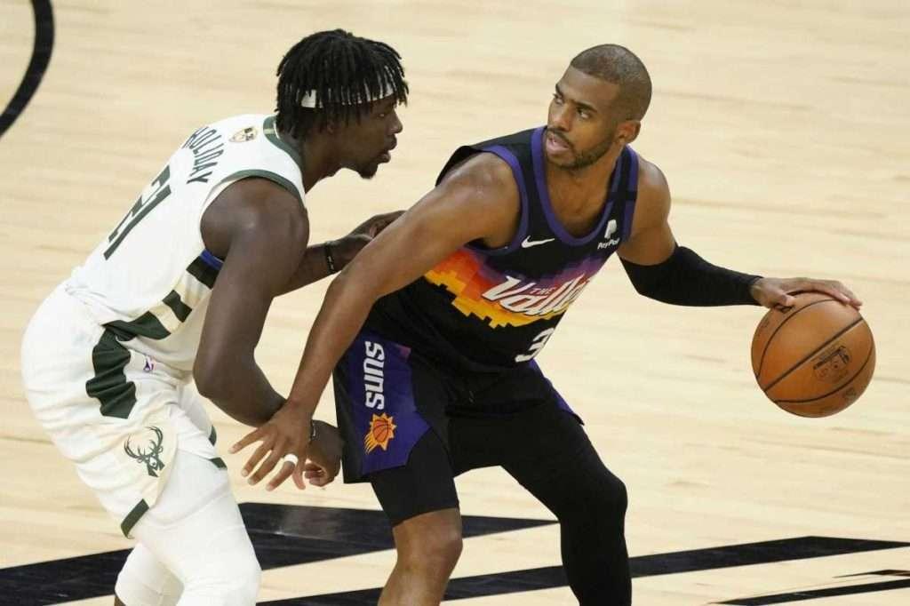 Chris Paul vs Jrue Holiday in the 2021 NBA Finals.