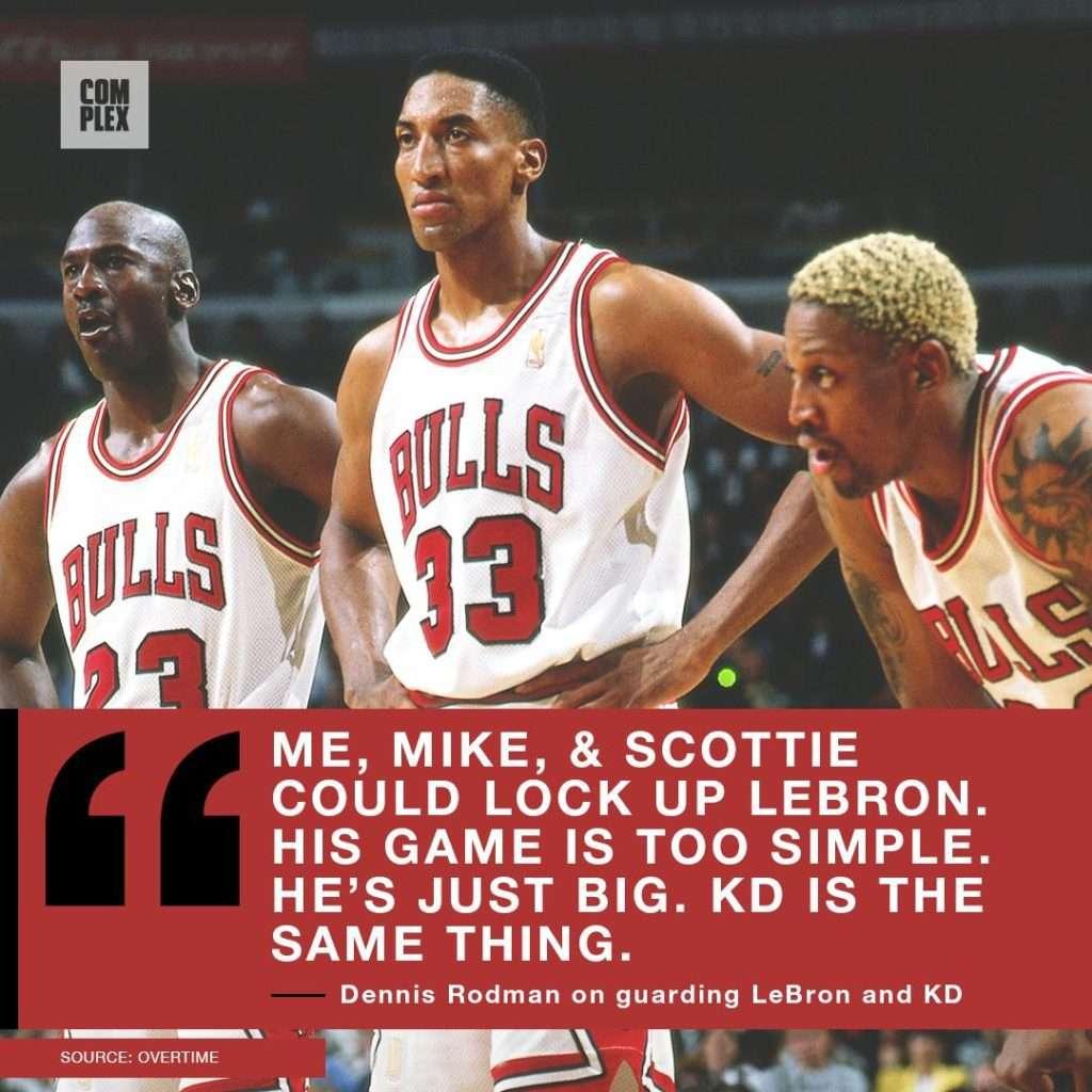 Michael Jordan vs LeBron James stats. Rodman thinks LBJ is overrated
