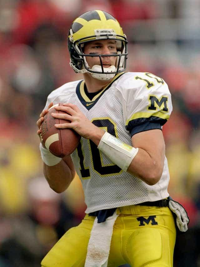 Tom Brady playing at Michigan.